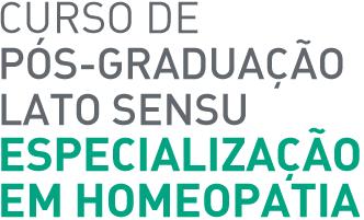Curso de Pós-Graduação Lato Sensu - Especialização em Homeopatia